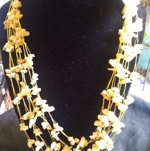 Beautiful gold color multiple chain necklace nwt